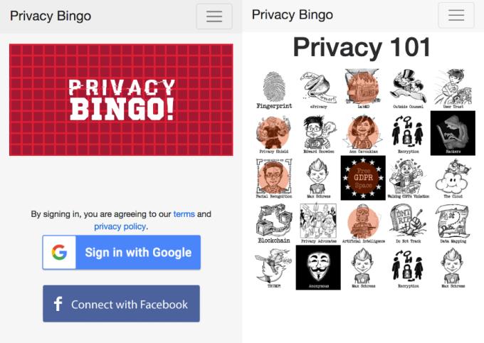 Let's play Privacy Bingo