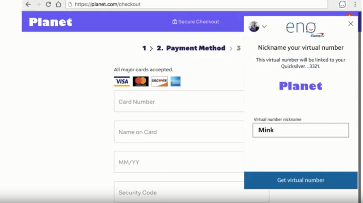 Credit card company offers virtual payment numbers