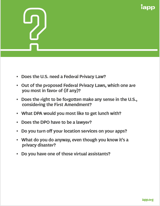 Data Privacy Day Questions