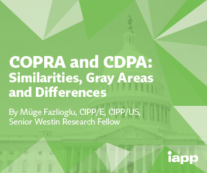 White Paper – COPRA and CDPA: Similarities, Gray Areas and Differences