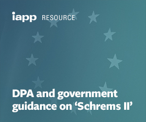 DPA and government guidance on 'Schrems II'