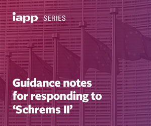 Guidance notes for responding to 'Schrems II'