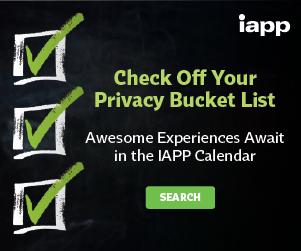 IAPP online calendar: choose your hot dates
