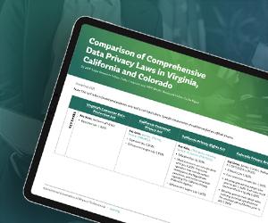 Comparison of Comprehensive Data Privacy Laws in Virginia, California and Colorado